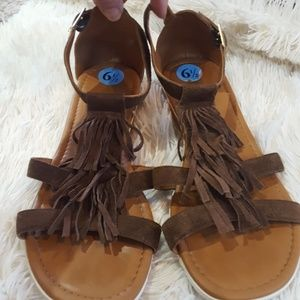 A. Giannetti suede sandals
